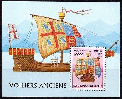 Benin - 1997 – Antique Sailboats – S/s Vf  **