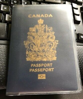 CANADA PASSPORT COVER  Clear Plastic Vinyl