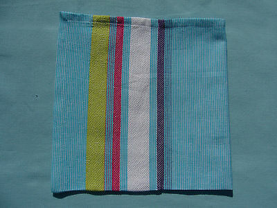 Fabric Napkins Set of 6 Turquoise Lime Pink Stripe Lovely Quality 100% Cotton