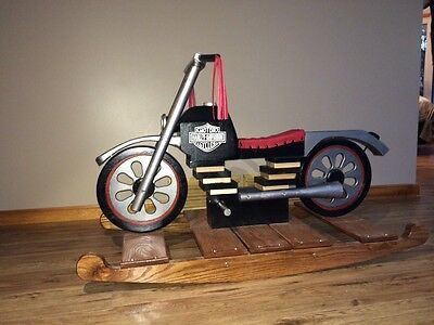 Handcrafted rocking motorcycle toy
