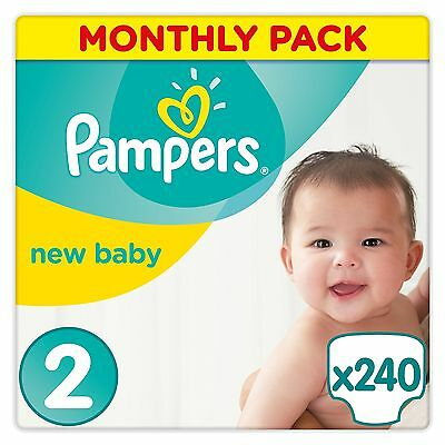 Pampers Premium Protection Nappies New Baby Monthly Saving Pack - Size 2 Pack...