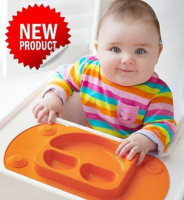 Mini EasyMat for Highchair and Travel Feeding. Portable Baby Suction Plate & ...