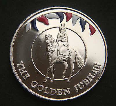 Falkland Islands 50 Pence 2002 'The Golden Jubilee' BUNC
