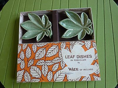 Wade leaf dishes, original boxed, made in Ireland, very nice set.
