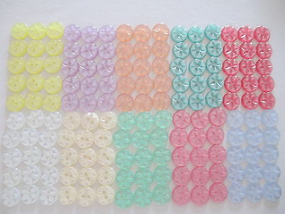 10 25 or 100 - Star Baby Round Resin Sewing Buttons - Size 18 22 26 - 11 Colours