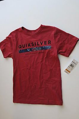 2f3930a84fe QUIKSILVER GRAPHIC T-SHIRT Boy's M Short Sleeve Tee ORGANIC Cotton ...
