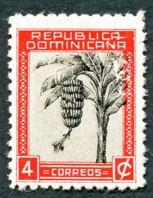 DOMINICAN REPUBLIC 1943 4c black and scarlet SG495 mint MH FG Banana Tree #W8