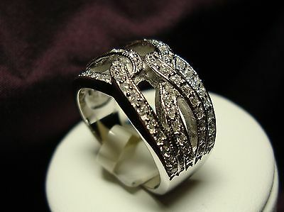 CZ Cubic Zirconia Wedding/Anniversary Band Ring platinum sterling silver