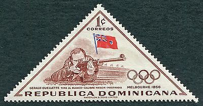 DOMINICAN REPUBLIC 1957 1c red-brown SG713 MH FG Olympic Games Melbourne #W8