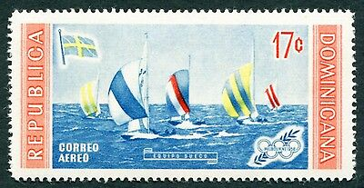 DOMINICAN REPUBLIC 1958 17c SG756 mint MH FG Olympic Games Melbourne AIR b #W8