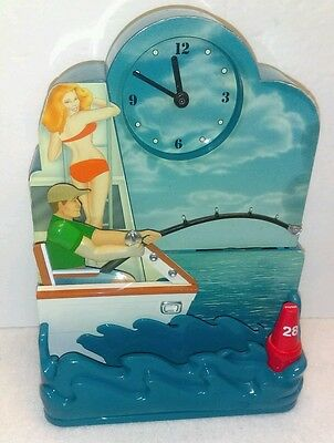 "Vintage The Original ""Sport Fishing Clock""  Animated"