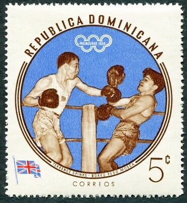 DOMINICAN REPUBLIC 1960 5c SG816 mint MH FG Olympic Games Melbourne #W8