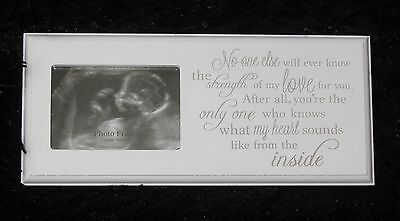 Baby Scan Photo Frame Matt White Wood With Sentimental Text  Gift Baby Shower