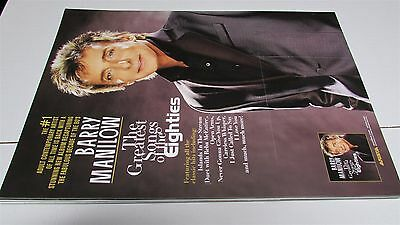 """BARRY MANILOW The Greatest Songs Of The Eighties 12x17"""" CD Store Promo Poster"""