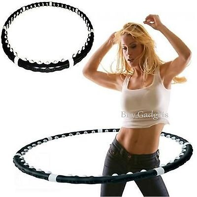 Professional Hoola Hula Hoop Weighted Magnetic Fitness Exercise Abs Massager Gym