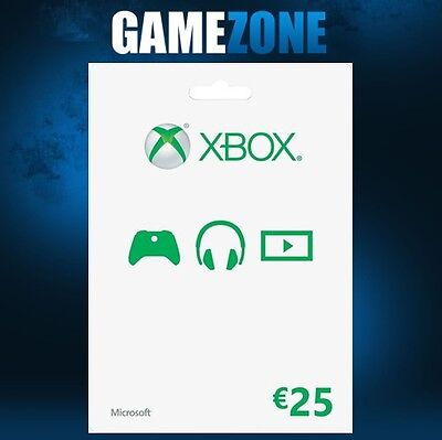 Xbox Live €25 EUR Gift Card Points For Microsoft Xbox 360 / Xbox One - EU - Euro