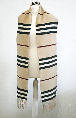 Burberry Merino Wool Cashmere Scarf Made in Scotland 100% Authentiс EXTRA LONG
