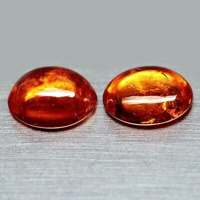 TOP SPESSARTINE : 4,34 Ct Natürlicher Orange Spessartin / Spessartit Granat