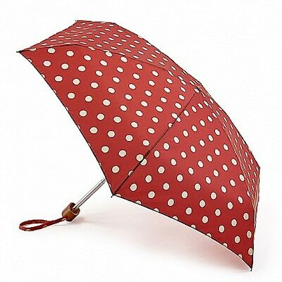 Cath Kidston Tiny Folding Umbrella - Button Spot Berry