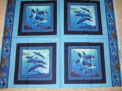 Dolphins Orcas Blanket Throw Pillow Pillowcase Tote  - Custom Made