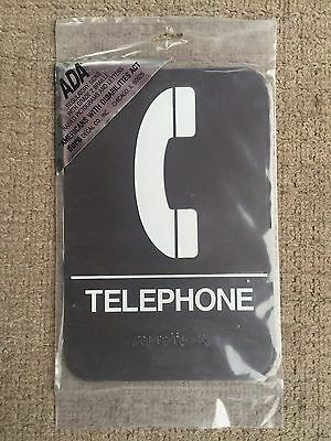 Duro Telephone 6x9 ADA Plaque Sign.  FREE SHIPPING in US