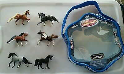 Breyer® Mini Whinnies ~GAITED~ set of 6 horses & 1 pouch