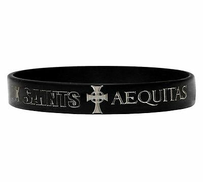 Boondock Saints Men's Rubber Bracelet Black Veritas One Size Most All NEW