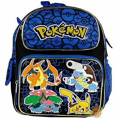 Pokemon Small Toddler Cloth Backpack Blue - Poke Balls