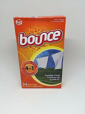 Bounce Outdoor Fresh Fabric Softener Dryer Sheets 34 count Tumble Dryer Sheets