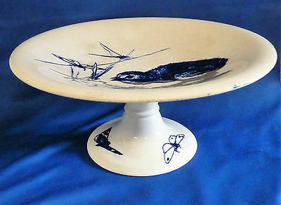 Rare Minton Asthetic Movement Chick Duck Dragonfly Tazza  Blue & White