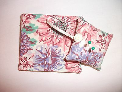 Pin Cushion & Needle Case Set Floral,  New, Gift Idea