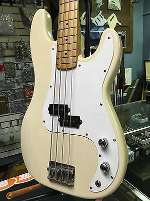Vintage Fender Squier P-Bass Aged White Made In Korea