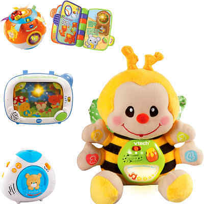 VTech 0-12 M Toy Value 4 Pcs Set includes Musical Bee Soothing Light Crib Proj