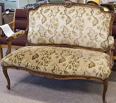 Antique Carved Wood Settee