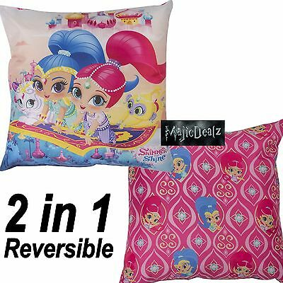 Shimmer And Shine 'zahramay' Comfy Square Cushion Girls Kids Matches Bedding