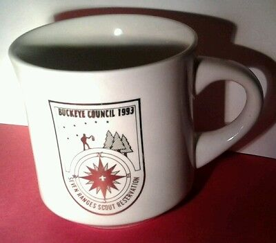 1993 BSA Boy Scout MUG Coffee CUP Buckeye COUNCIL 7 Seven Ranges Reservation