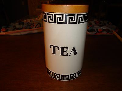 Susan Williams Ellis Portmeirion Pottery Greek Key Tea Container