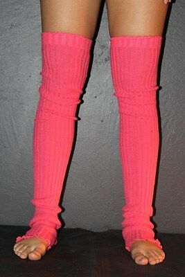 Pole Dance Gym Extra long Stirr-up Knit Legwarmers