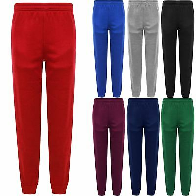 Boys Girls School Pe Jogging Bottoms Sweat Pants Sports Tracksuit Trousers 3-16
