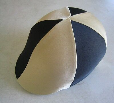 Horse Helmet Cover ALL AUSTRALIAN MADE Black & Gold  Any size you need