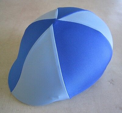 Horse Helmet Cover ALL AUSTRALIAN MADE Royal & Pale blue Any size you need