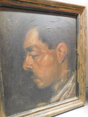 Portrait of young Diego RIvera, 1927, painted in Moscow by a Russian artist