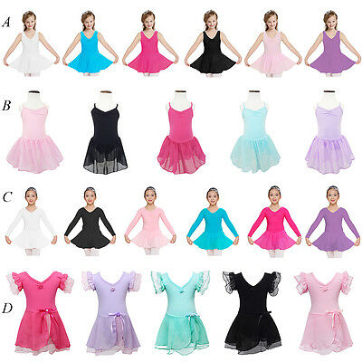 Multi Styles 2-12 Years Girl Ballet Dance Dress Wear Leotard Dancewear Costume