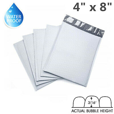 "100 PB #000 4x8 Poly Bubble Mailers Self Padded Envelope Supply Bags 4"" x 8"""