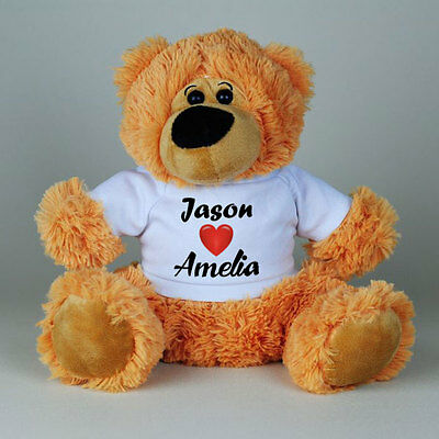 Personalised Teddy bear NAME <LOVE> NAME toy, custom gift idea, Valentine's day