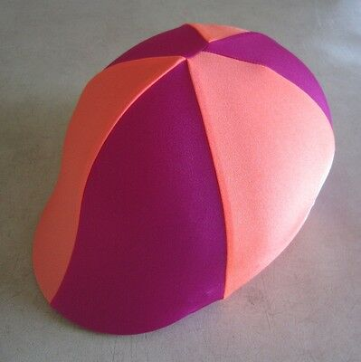 Horse Helmet Cover ALL AUSTRALIAN MADE Hot pink & Orange Any size you need