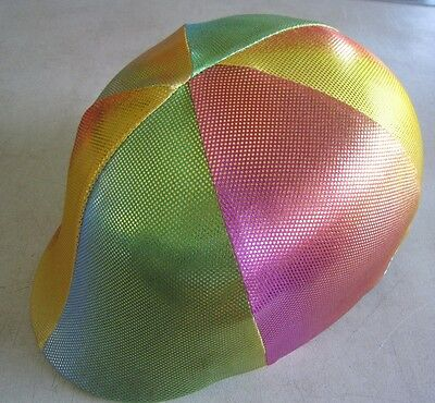 Horse Helmet Cover ALL AUSTRALIAN MADE Sparkly Rainbow design Any size you need