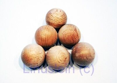 Wooden Ball without hole from Beechwood 15-50mm ø Raw wood For Hobbyists