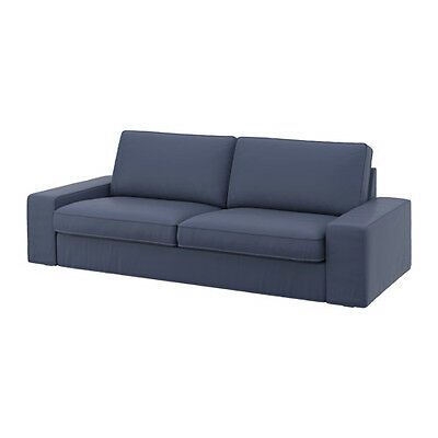 NEW IKEA KIVIK Three [ 3] seat sofa COVER SET ONLY in Ramna dark Blue