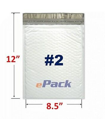 "25- 8.5x12 Poly Bubble Mailers Padded Envelope Shipping  Bags 8.5"" x 12"" #2"
